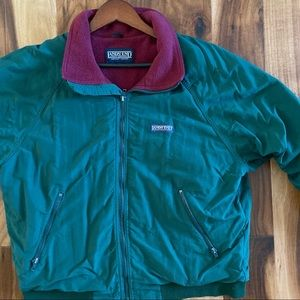 Lands' End squall green fleece lined jacket Green